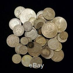 Lot of Mixed Silver Foreign World Coins 361 Grams
