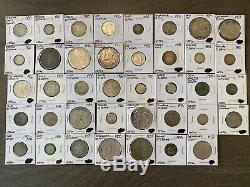 Lot of Mixed Silver World Foreign Coins 8 Oz Of Silver! Many Different Countries