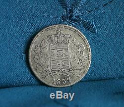 Lucca Italian States 2 Lire 1837 Silver World Coin Itlay Carlo Ludovico I et