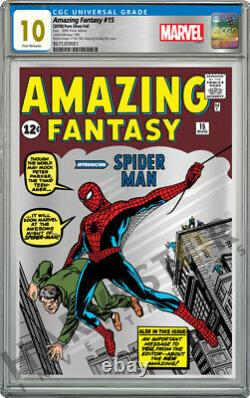Marvel Amazing Fantasy #15 Silver Foil Cgc 10 Gem Mint First Releases #888