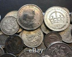Massive World Silver Coin Lot Victoria Crown, Thalers, Canada, 5 Shillings MORE