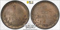 Mexico 1913 Peso Parral Km#611 Pcgs Graded Ms63 World Coin Chihuahua