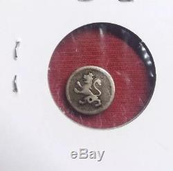 Mexico Spanish Colonial 1800 1/4 Real, Silver World Coin, Holed. Lion and Castle