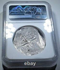 NGC 1598-1621 Spanish Silver 8 Reales Cob Eight Real Colonial Treasure Coin