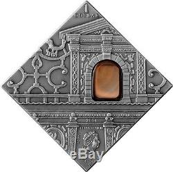 Niue 2014 Art that changed the World Mannerism 28.28g Silver Coin with Agate