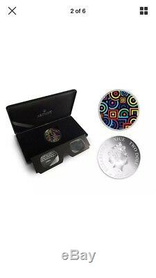 Niue 2015 1oz Silver Coin Chromadepth 3D Glasses World Premiere by ART MINT
