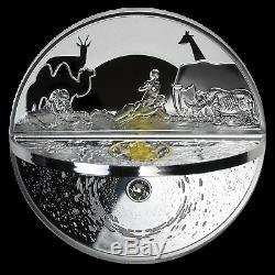 Niue 2019 3D Creation Of The World 2 oz Silver Coin