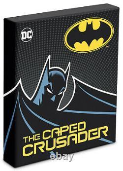 Niue 2020 1 oz Silver Proof Coin- Batman- THE CAPED CRUSADER -KISS