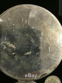 OLD SILVER PLATE Pin House full OF OLD COINS, predecimal Aust, GB, World SILVER