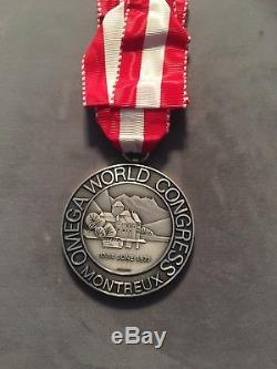 OMEGA 125th Anniversary World Congress Silver MEDAL COIN by Huguenin