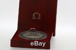 OMEGA 125th Anniversary World Congress Silver MEDAL COIN by Huguenin