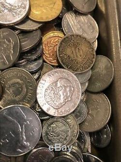 OVER 14 pounds BU UNC AU XF world foreign coin mix bulk Monaco lot & Silver