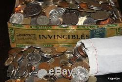 Over 2 Pounds Old World Estate Coin Collections W Many Nice Silver Copper Coins