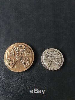 PAHLAVI Dynasty White Revolution Commemorative Medal Sterling Silver Coin 1967