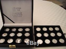PGA Tour Partners Club World Golf Hall of Fame. 999 Silver Set of 24 Coins READ