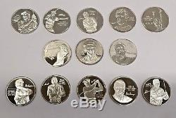 PGA Tour Partners Club World Golf Hall of Fame. 999 Silver bullion Set of 13 Coin