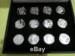PGA World Golf Hall Of Fame Silver Coin Collection, 24 Coins. 999 Fine Silver