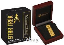 Perth Mint Star Trek Deep Space Nine Latinum 1 oz Slip Silver Gold-Plated Bar