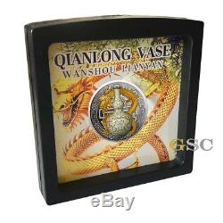 QIANLONG VASE II World Most Expensive Porcelain silver coin Niue Island 2018