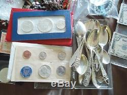 REMARKABLE ESTATE BOX. COINS(WithSILVER)US/WORLD, JEWLERY, HARLEY-DAVIDSON, STAMPS