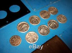 Rare 1962 Seattle Worlds Fair. 999 Silver Coin Set 8 Medals Plus Space Medal