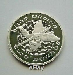Rare 1988 Manx Airlines Isle Of Man Silver £2 Coin One Of Only 500 Worldwide