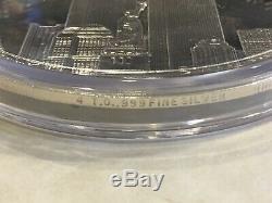 Rare Huge 9/11 World Trade Center WTC 3.5 4oz. 999 Fine Silver Round Bar Coin