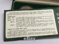 Rare Portugal 250$00 Bu & Silver Proof Coin Set/ World Fisheries Conference Fao