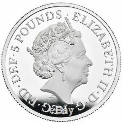 Royal Mint Una and the Lion UK Two-Ounce Silver Proof £5 Coin WORLDWIDE DELIVERY