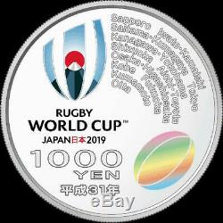 Rugby World Cup Japan 2019 commemorative Coin 1000 YEN Box in Case Limited rare