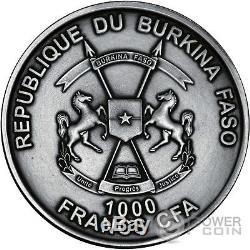SELACHII World of Evolution 1 Oz Silver Coin 1000 Francs Burkina Faso 2016