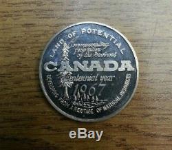 SILVER Toronto Coin Club Canada Centennial 1867 1967 Medal Edge number 3! 50g