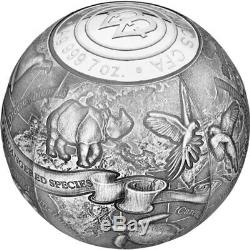 S. O. S. To the World Endangered Animal Species Silver Coin Cameroon 2017
