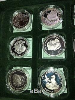 Set Of 26 Silver Proof Coins 1997-98 World Wide Fund Wwf