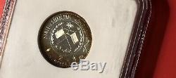 Sharjah-1970-2 R. (world Soccer Cup)silver Proof Coin, Pcgs Graded Pf67ultra Cameo