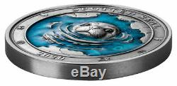 Spotted Seal Underwater World 2020 3 Oz $5 High Relief Pure Silver Coin Barbados