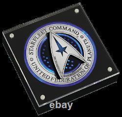 Star Trek STARFLEET COMMAND EMBLEM 2019 3oz SILVER HOLEY DOLLAR & DELTA COIN SET