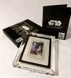 Star Wars 40th Anniversary 1 oz Silver Coin Ltd Edition 10,000 Worldwide
