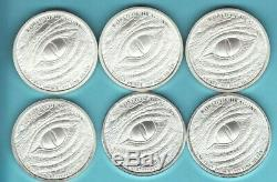 THE WORLD OF DRAGONS SET 1 oz. SILVER Round Coins COMPLETE 6 COINS