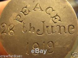 Tanganyika Tanga 1919 Peace Celebrations engraved German East Africa Silver Coin