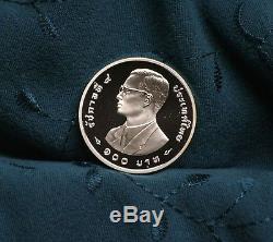 Thailand 100 Baht 1997 Silver Proof World Coin Thai Rama IX World Wildlife Tiger