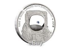 The 2019 Moon Landing Silver Proof 5oz Coin Ltd Etd 100 worldwide