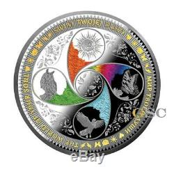 The World Of Your Soul 8 Oz. 25$ silver coin Niue Island 2017