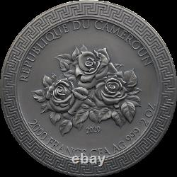 Three Graces Celestial Beauty 2 oz Antique finish Silver Coin Cameroon 2020