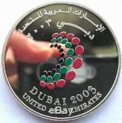 UAE 2003 Meeting of the World Bank Group 50 Dirhams 1.19oz Silver Coin, Proof