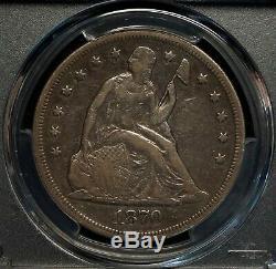 USA 1870 Seated Liberty Dollar PCGS Graded VF20 Scarce World Silver Coin