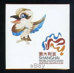 Very Rare 2010 World Expo Shanghai Silver 1oz Coin -map Shape of Australia