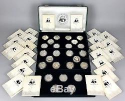 -WORLD WILDLIFE FUND- 25th ANNIVERSARY SILVER PROOF COIN MEDAL COLLECTION SET