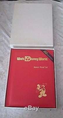 Walt Disney World 20 Magical Years Master Proof Set Silver Coin Set