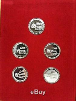 Walt Disney World Master Proof Set (5) 1 oz. 999 Silver Coins Low Mintage